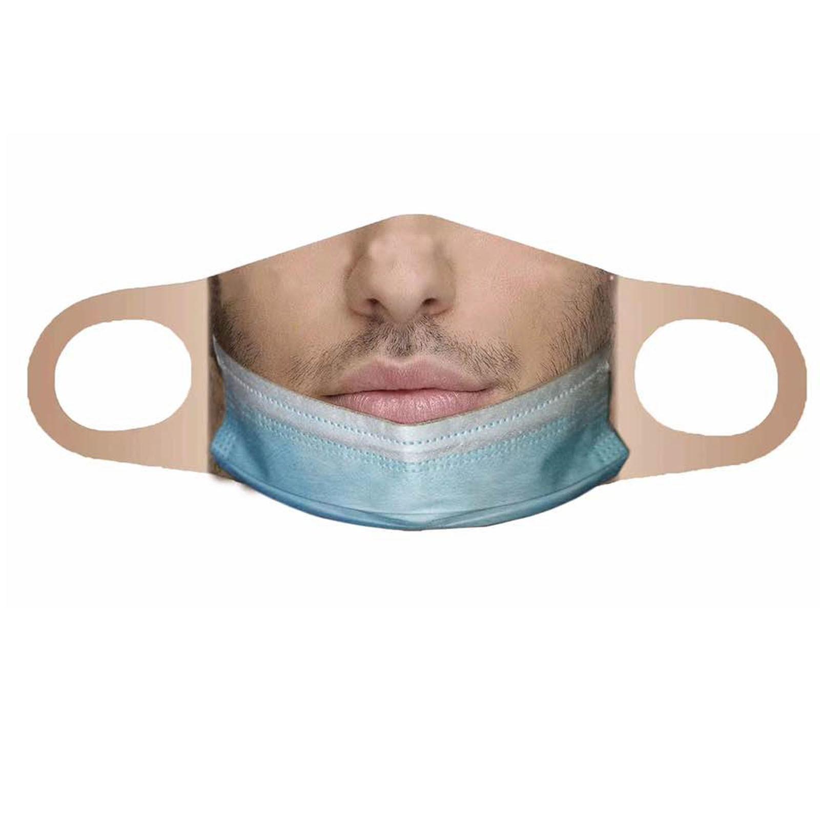Взрослый забавная Футболка с принтом маска для лица моющийся многоразовый уход за кожей лица ветрозащитная рот маски вечерние маска mascarillas ...