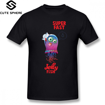 Camiseta de Gorillaz, camiseta de Medusa superrápida, camiseta de gran tamaño de Streetwear, camiseta 100 algodón de manga corta, divertida camiseta para hombre