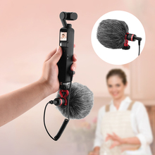 Wired Condenser Microphone Live Vlog Video Recording Windproof Mic for DJI Pocket 2 Do It All Handle Gimbal Camera Accessory