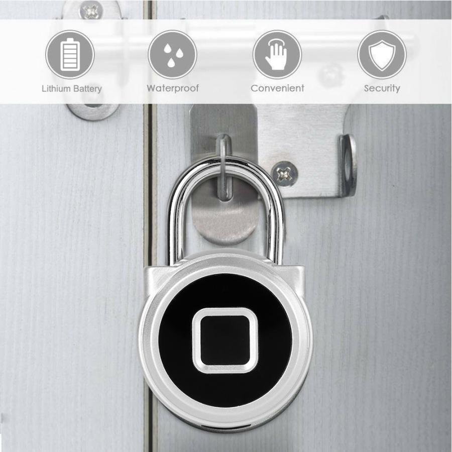 Waterproof Fingerprint Lock Anti-Thef Smart Keyless Padlock for Wardrobe Cabinet Box