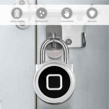 Waterproof Fingerprint Lock Anti-Thef Smart Keyless Padlock for Wardrobe Cabinet Box - DISCOUNT ITEM  34% OFF All Category