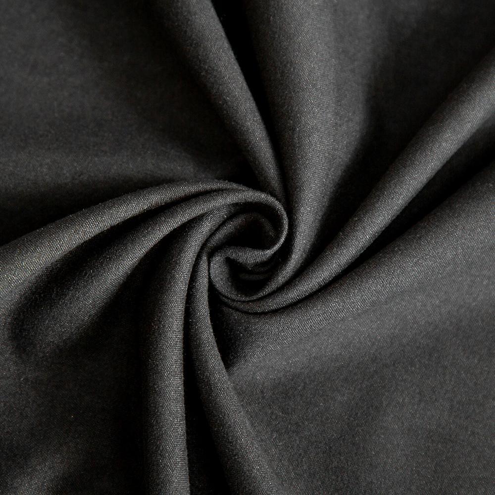 Bonenjoy 1pc Black Color Fitted Sheet Single/Queen/King Size drap de lit Bed Sheet Sets Solid Double Bed Sheets (no Pillowcase) 6