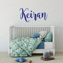 Kids Name Wall Decal Personalized custom name Vinyl wall sticker Boys Bedroom decoration JH12