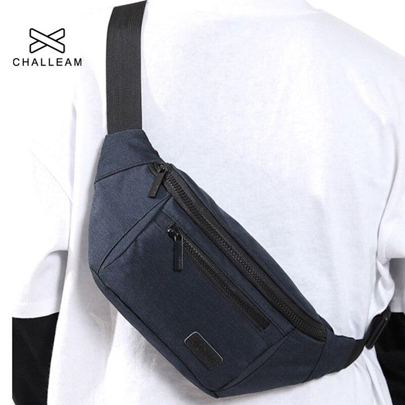 Men Canvas Large Capacity Waterproof Belt Bag Boy Waist Bag Fashion Male Simple Wear Resistant Black Fanny Pack Phone Pouch G103(China)