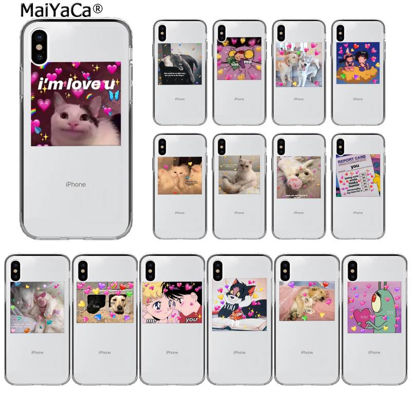 MaiYaCa Super cute cat dog cartoon pink Heart-shaped YOU&ME Phone Case for iPhone 11 pro XS MAX 8 7 6 6S Plus X 5 5S SE XR image