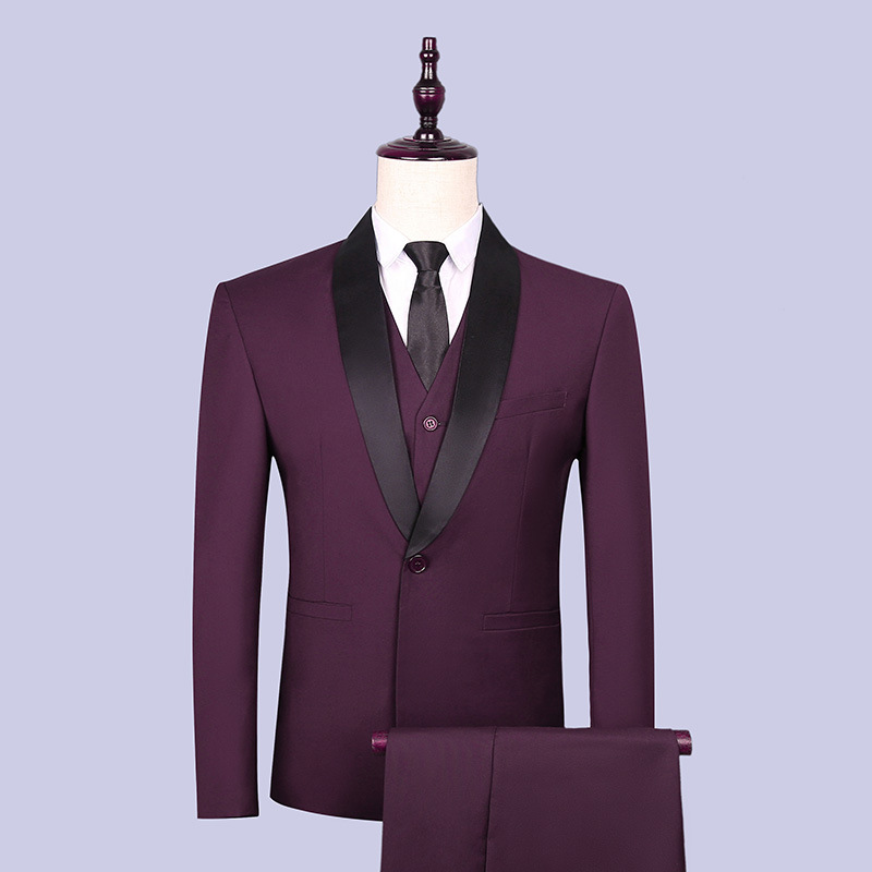 In The Spring Of 2020 The New Men's Suits Young Shawl Collar Suit The Groom Suit Three Pieces