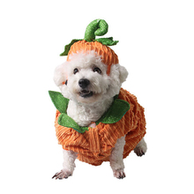 Halloween Party Pet Clothes Cute Pets Pumpkin Shape Costume Cosplay Suits Dog Cat Hat Dress Up Products