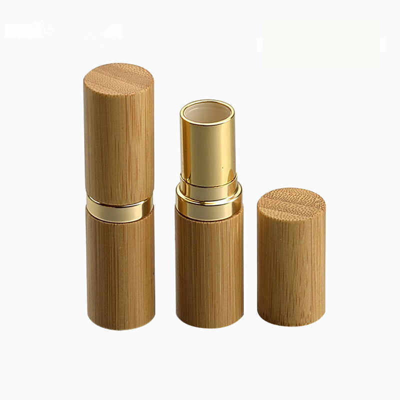 Wholesale 12 1mm Bamboo Empty Lipstick Tubes Container Lipgloss Lip Balm Tubes Bamboo Gold Shell Makeuplip Stick Bottle Tubes Aliexpress