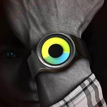 Relogios Masculino Creative קוורץ שעונים גברים אופנה מותג אופנה נירוסטה יוניסקס שעון שעון זכר נקבה מעצב