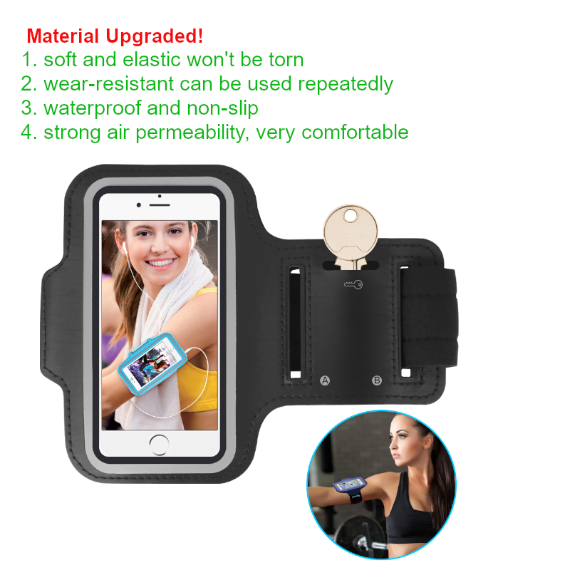 Grey Sports Armband Phone Case Cover Gym Running FOR Apple iPhone 11