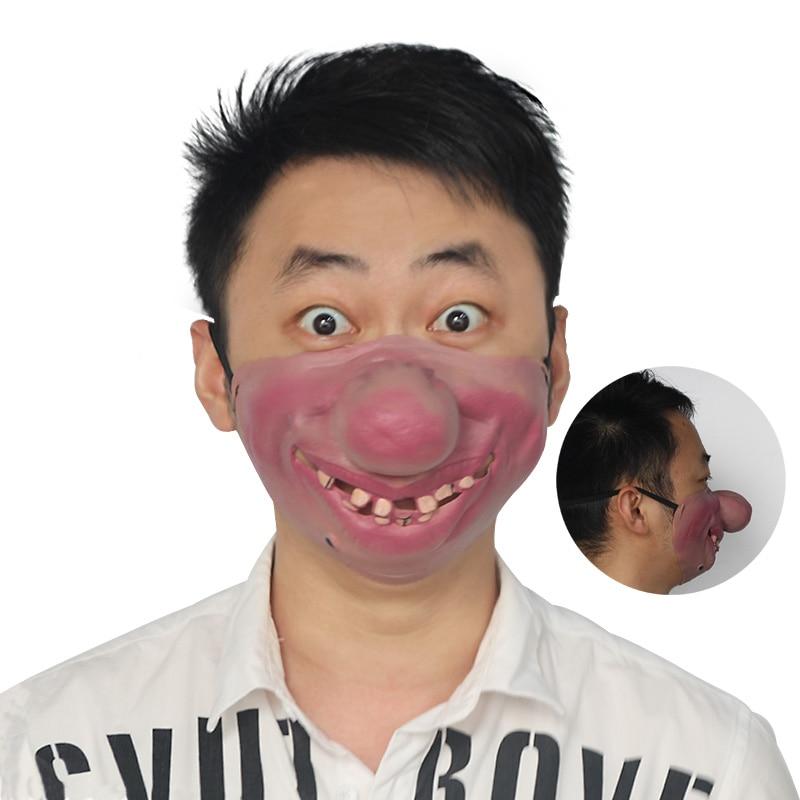 Halloween mask funny Clown lip latex masks 2019 Halloween ...