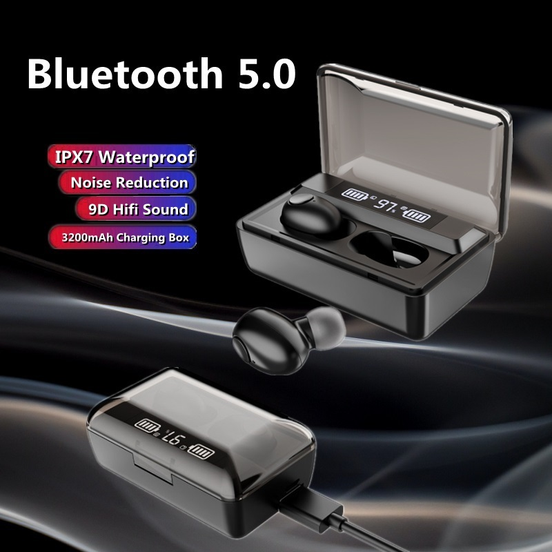 Беспроводные наушники TWS с Bluetooth 5,0, водонепроницаемые спортивные наушники-вкладыши с зарядным боксом 3200 мАч для Huawei, iPhone, Xiaomi, гарнитура