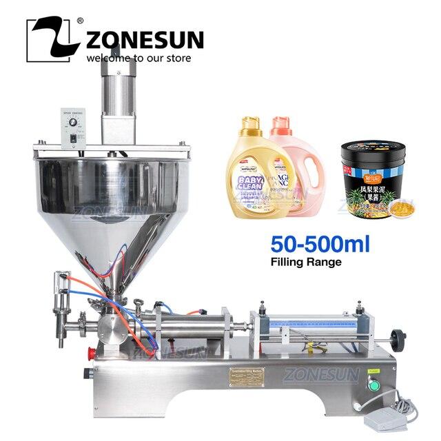 ZONESUN ערבוב מאוד צמיג מזון להדביק קרם אריזה ציוד בקבוק מילוי LiquidsAlcohol ג ל חומר מילוי מכונה
