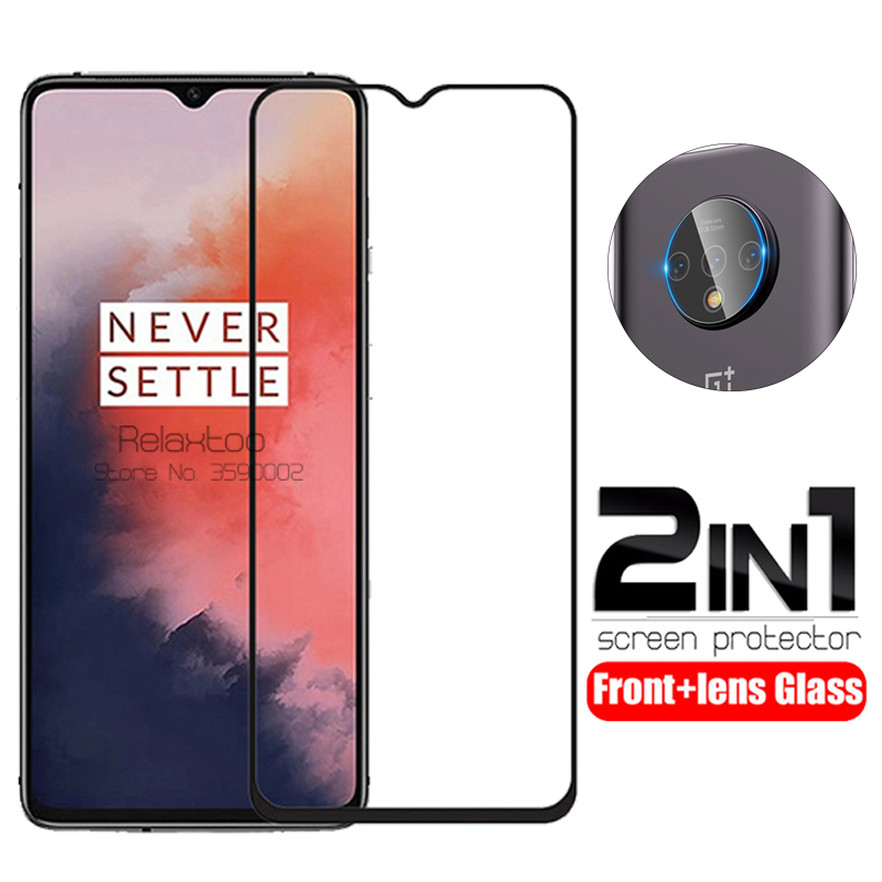 2 In 1 Camera Lens Tempered Glass For Oneplus 7t Screen Protector On For Oneplus 7 T One Plus 7t Oneplus7t 1+7t Protective Film