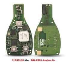 Jingyuqin – clé télécommande intelligente, 2000 MHz ou 315MHz, 433.92 boutons, compatible avec FBS3 Go BGA, originale, pour Mercedes Benz année 3/4