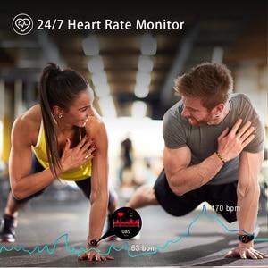 Image 4 - Blackview x1 smartwatch 5atm, relógio inteligente unissex esportivo, monitoramento de sono, à prova d água, monitor de frequência cardíaca, para ios e android telefone móvel