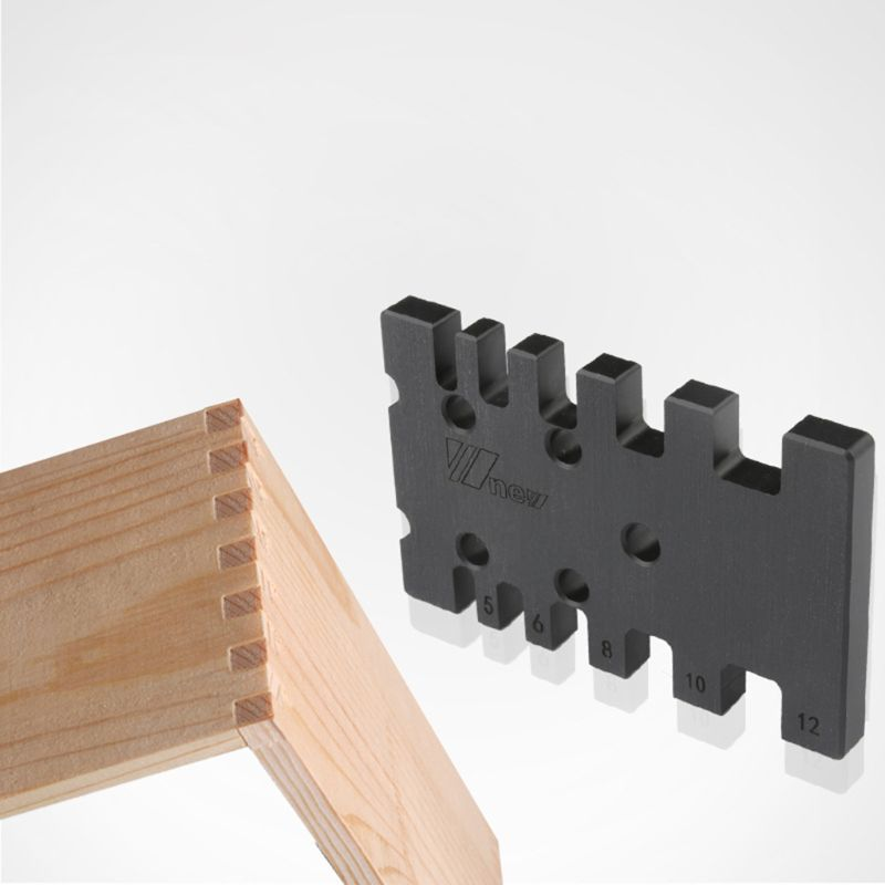 Woodworking Tenon Gauge Template Track Miter Mortise Dovetail Maker Jig Block