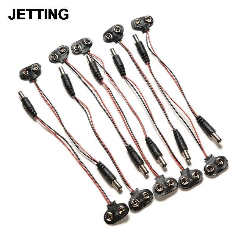 Cabo clipe tambor jack conector para arduino mais novo estoques eletrônicos transporte rápido 1 pc 9 v dc i-tipo de energia da bateria