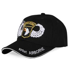 Black Baseball Caps America Army 101st Airborne Division Hats Embroidery Men Dad Cap AIR FORCE Sport Tactical Bone Snapback
