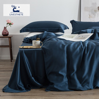 Liv Esthete Duvet Cover Flat Sheet Pillow Cover Bedding Set Home Textiles Decor 100% Silk 25 Momme Natural Healthy Bed Linen