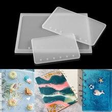 1 pçs a5 a6 a7 clear loose-leaf notebook capa moldes de silicone pocketbook resina uv epóxi molde para diy artesanal fazer artesanato
