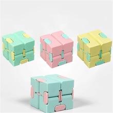 Для взрослых и детей, надувные игрушки Бесконечность магический куб, квадрат головоломки игрушки для снятия стресса забавные ручная игра ч...