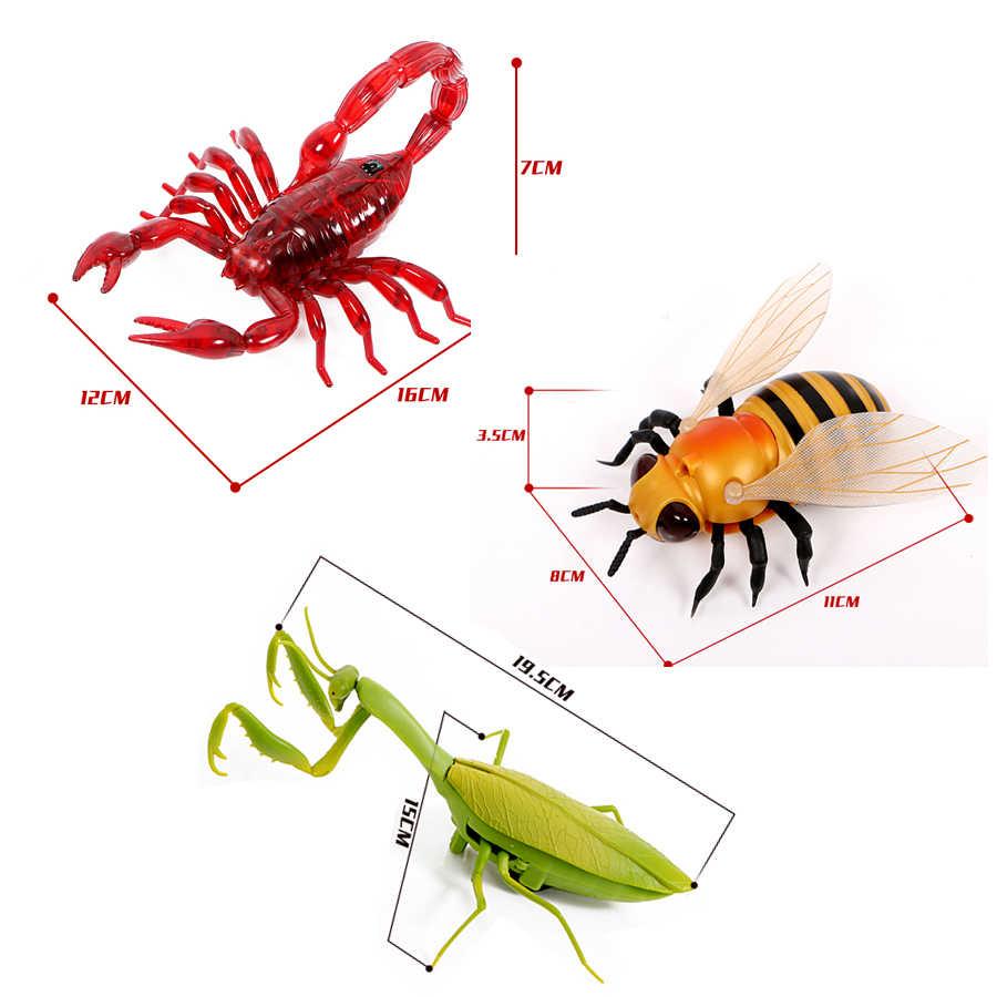Infravermelho rc animal inseto brinquedos simulação abelha mantis voar robô eletrônico para o miúdo halloween prática piada insetos brinquedos