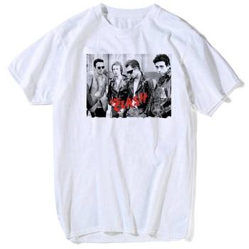 Luslos London Aufruf T Shirt Der Zusammenstoß Album Frauen Casual T-shirt Englisch Rock Band Sommer Hohe Qualität Weiche Rundhals t Tops