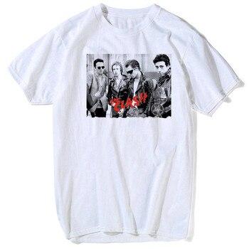 Luslos londres chamando t shirt o clash album feminino casual tshirt inglês rock band verão de alta qualidade macio em torno do pescoço t topos
