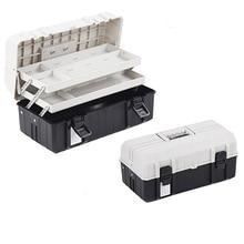 цена на 17 Inch Three Layer Plastic Foldable Toolbox Household Maintenance Electrician Tool  Storage Case Multi-functional Box