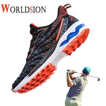 Nuevos zapatos de Golf de entrenamiento transpirables, zapatillas deportivas de alta calidad para hombre, zapatillas de Golf para hombre de talla 39-45, zapatos ligeros para caminar