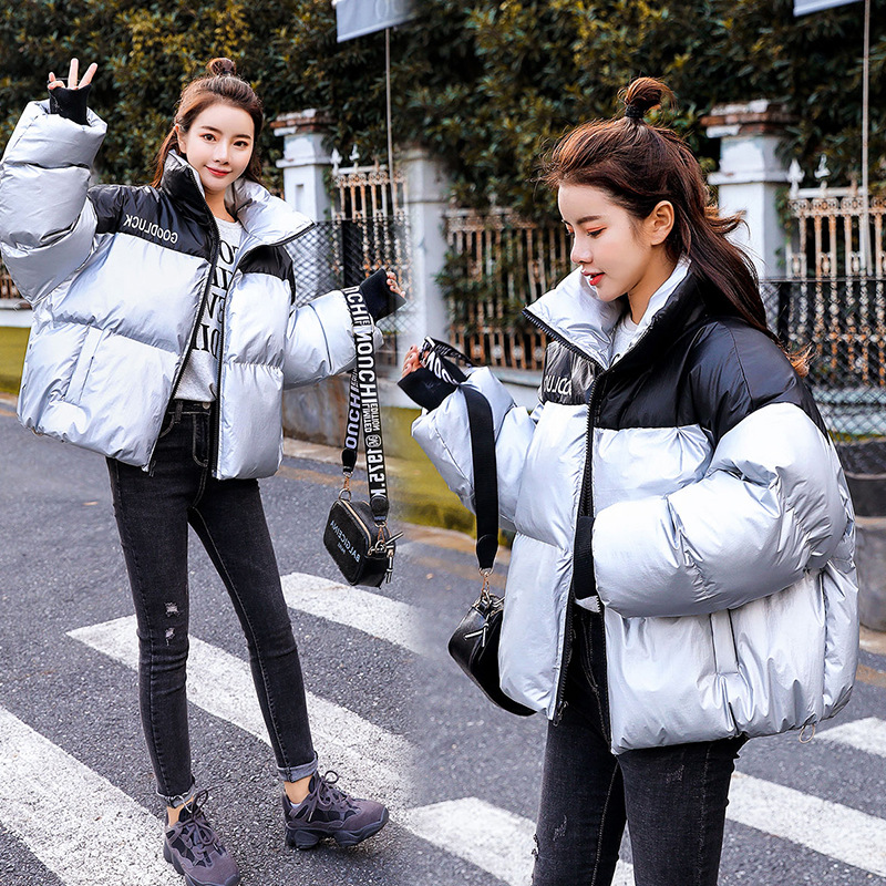 Dongdaemun Down Jacket Cotton-padded Clothes Women's Short 2018 Winter New Style Korean-style Down Coat Thick Warm Fashion Coat