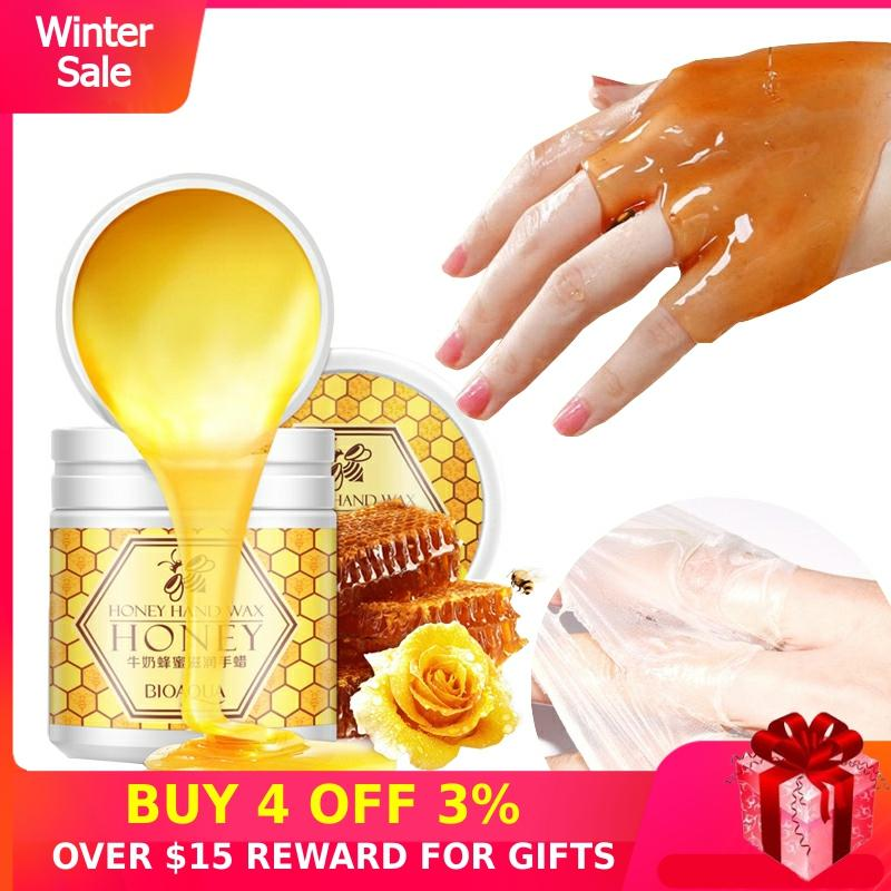 Peeling Hand Feet Mask Wax Honey Essence Paraffin Bath Sodium Hyaluronate Moisturizing Spa Exfoliating Hands Foot Care Cream P
