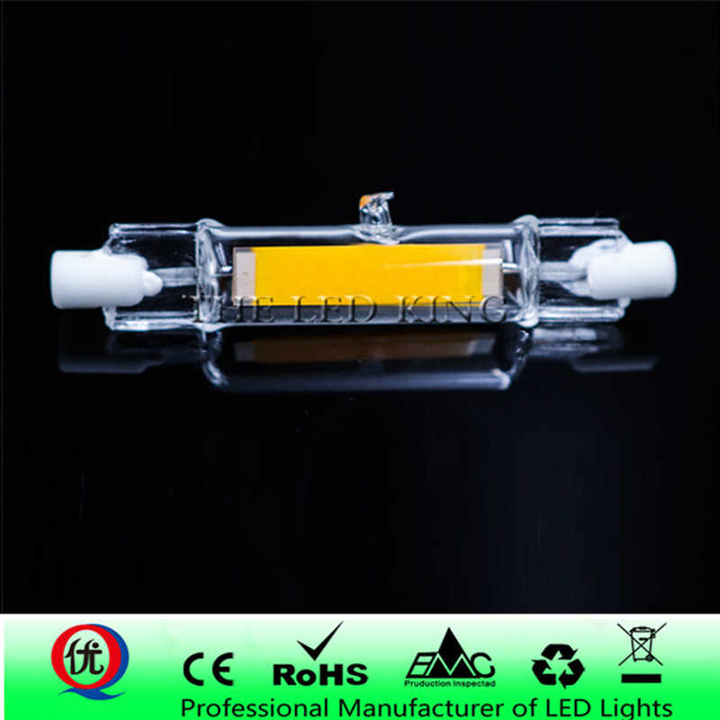 R7S LED 118mm 78mm Dimmable COB Lamp Bulb Glass Tube 15W 30W Replace Halogen Lamp Light AC 220V 230V R7S Spotlight