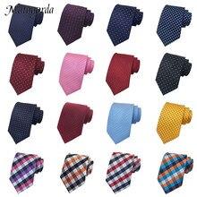 цена на Classic Gingham Plaid Dot Men Tie Luxury Silk Necktie Groom Formal Tie Party Neckcloth 8CM Neckwear Formal Gravata Wedding Gift