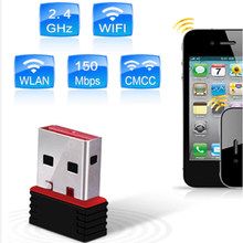 Portable High Speed 150 Mbps 802.11n Wifi Receiver Transmitter Wireless Computer Network Card Mini PC USB 2.0 Adapter For Laptop