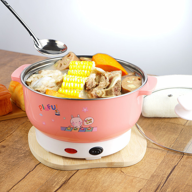 Best Price 113d4 Multifunctional Electric Cooker Mini Heating Pan Stainless Steel Hotpot Noodles Rice Steamer Steamed Eggs Soup Pot 2l Eu Us Cicig Co