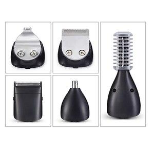 Image 5 - Surker 5 ב 1 מקצועי שיער קליפר USB טעינה שיער גוזם זקן האף גוזם לגברים תספורת מכונת טיפוח מכונת