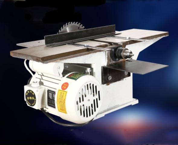 220V 2500r/min scies à bois multifonctions bureau électrique rabot à bois Machine et moteur 1.3KW