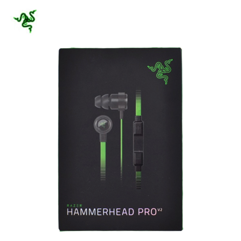 RAZER 3.5MM Remote Control Warhammer Shark Hammerhead Pro  V2 Hammerhead In-Ear Game Music With Microphone Headphones