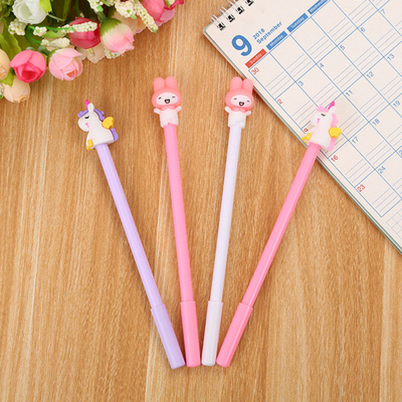 1pcs Unicorn Gel Pen 0.5mm  Cute Pens Novelty Stationery  Kawaii Pens Student Cute Black Writing Pen Kawaii School Supplies