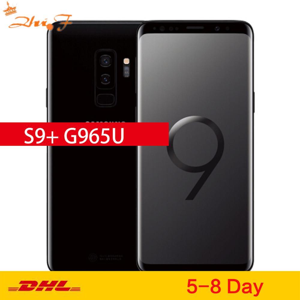 Сотовый телефон Samsung Galaxy S9 Plus G965U, LTE, 6,2-дюймовый экран, двойная камера 12 Мп, 6 ГБ ОЗУ 64 ГБ ПЗУ, NFC, Snapdragon 845 восемь ядер, разблокированный, оригина...