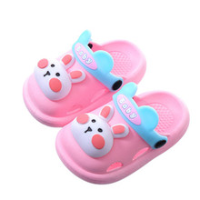 2021 Summer Baby Girls Sandals Soft Comfortable Shoes Cute Animal Carton Hole Shoes Bottom Non-Slip Baby Kids Toddler Sandals