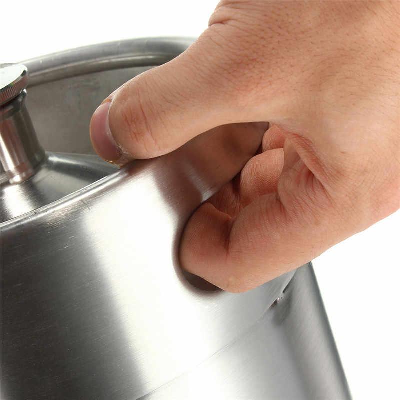 5L برميل البيرة الخشبي الصغير الفولاذ المقاوم للصدأ الضغط هدير للحرف موزع الجعة نظام المنزل المشروب البيرة تختمر
