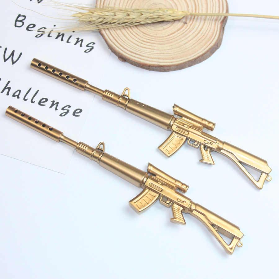1 adet makineli tüfek jel kalem kırtasiye Kawaii okul malzemeleri jel mürekkep kalemi okul kırtasiye ofis malzemeleri çocuklar hediyeler