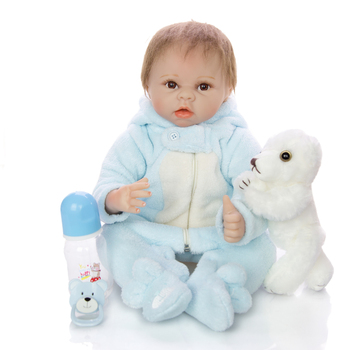 "Lifelike bebe reborn Soft Silicone Doll 22"" 55cm Realistic newborn boy girl Lovely Baby Dolls For Kid Birthday Gift Toddler Toy"