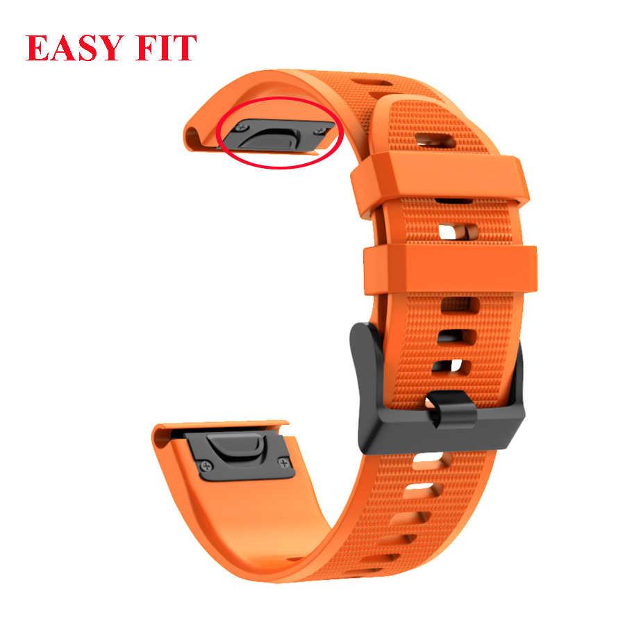 22 MILLIMETRI QuickFit del Cinturino Della Cinghia per Garmin Forerunner 945 935 Easyfit Cinturino Da Polso In Silicone Per Garmin Fenix 6 6 Pro fenix 5 5 Più