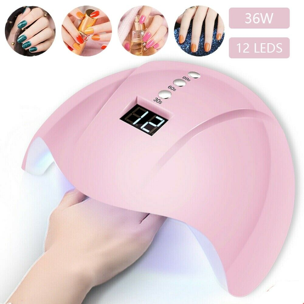 36W 12LED Nail Dryer LED Lamp UV Light For Nails Polish Gels Quick-drying Induction Lamp Machine Electric Manicure