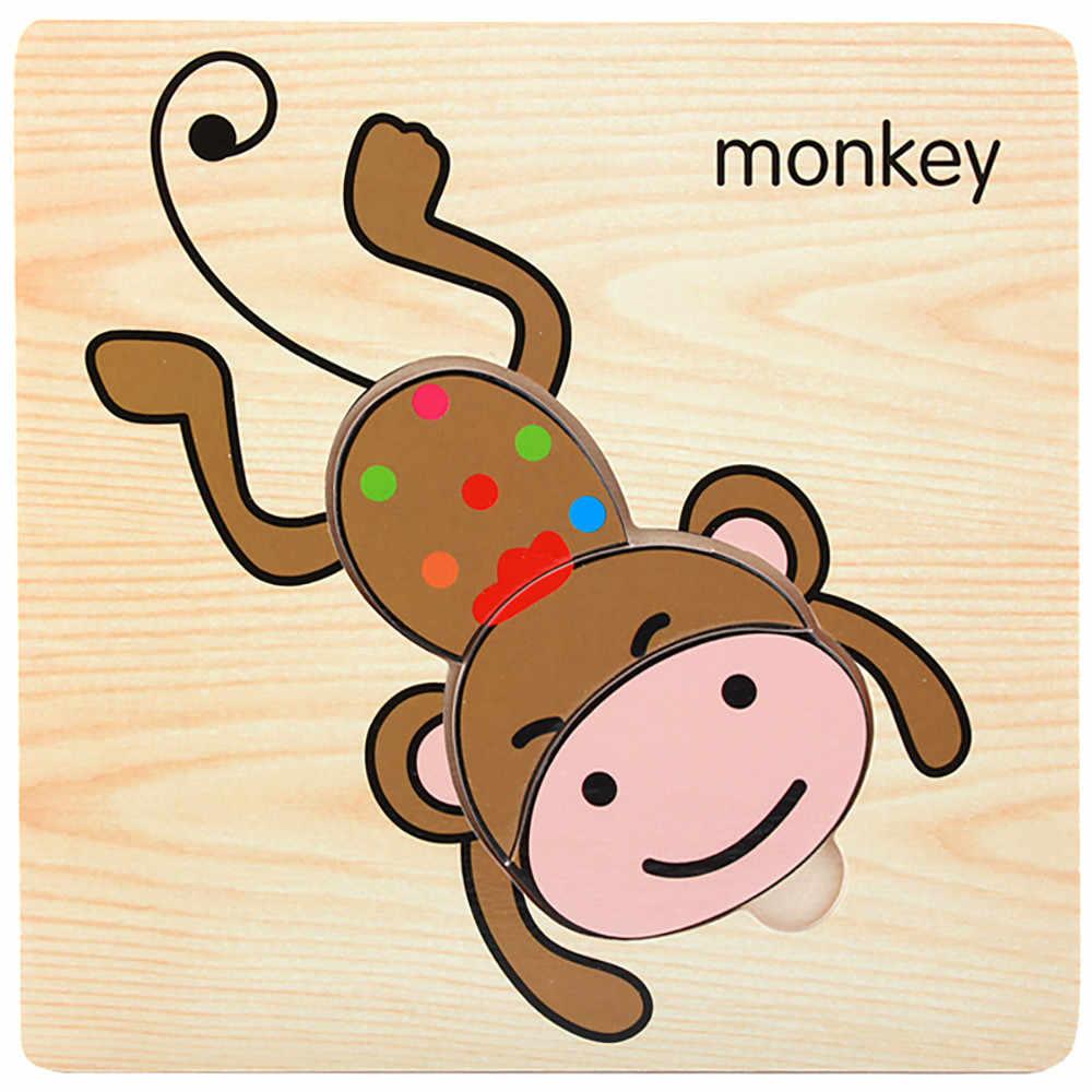 1 Uds. De madera encantador rompecabezas de Desarrollo Educativo bebé niños entrenamiento juguete regalo niño juego de entrenamiento temprano GK