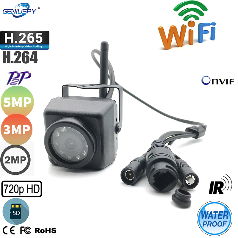 Geniuspy Waterproof IR Night Vision 720P 960P 1080P 3MP 5MP Super Mini Bird Nest IP Camera Wifi Outdoor For Car&Vehicle Fleet